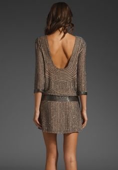 Sexy back! Parker Vintage Beading Open Back Dress - I want! Get me out of the mountains and into the city! Look Fashion, Fashion Beauty, Fashion Outfits, Womens Fashion, Open Back Dresses, Short Dresses, Backless Dresses, Pink Dresses, Dress Me Up