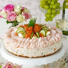 Shrimp sandwich cake
