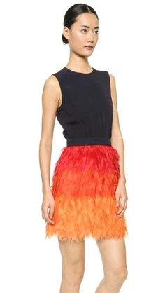 frayed feather party dress ... yes please!