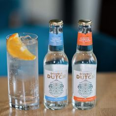 Double Dutch Tonic Tonic Water, Gin And Tonic, Skinny Water, Gin Gifts, Orange Wedges, Cocktails, Drinks, Vitamin C, Vodka Bottle