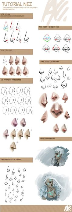 Drawing Tutorial - Noses. I always have the hardest time drawing these!