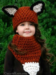 The Fáline Fox Hat and Cowl Crochet Pattern