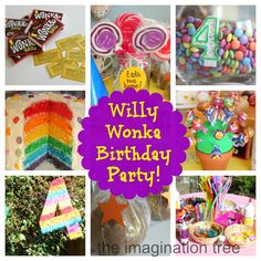 """Create a magical birthday party based on the wonderfully whacky story of Charlie and the Chocolate Factory, by Roald Dahl, filled with colour, sweeties and crazy invention games! Approximately 5 minutes after Cakie's 3rd birthday Fairy party last year, she declared that she wanted her 4th birthday party to be """"all about Charlie and the...Read More »"""