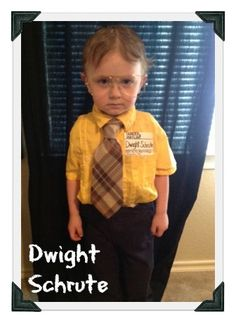 """omg its dwight shrute from the """"office""""! like if you've seen or loved the """"office"""" show. Diy Baby Costumes, Cool Halloween Costumes, Halloween Clothes, Meme Day Costumes, Costume Ideas, Baby Halloween Costumes For Boys, Funny Costumes, Creative Costumes, Homemade Halloween"""
