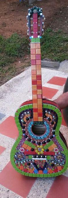 Guitarra mosaico