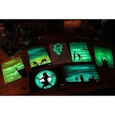 Glow in the dark art Crisco Art
