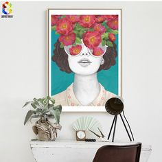 Aliexpress.com : Buy ZeroC Nordic Posters And Prints Flower Girl Portrait Wall Art Canvas Painting Pictures For Living Room Scandinavian Home Decor from Reliable picture for living room suppliers on ZeroC. Store