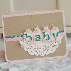 tiny tags + alphabet dies or cut letters out of patterned paper on cricut