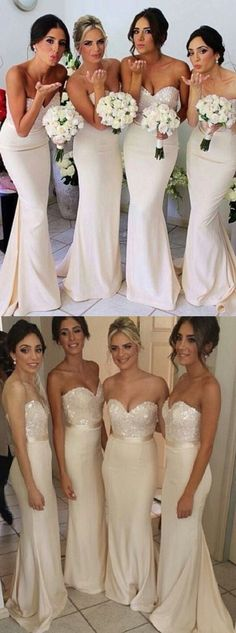 2017 bridesmaid dresses,long bridesmaid dresses,mermaid sweetheart wedding party dresses,sparkling evening dresses