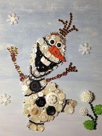 Unframed Olaf the Snowman Disney's Frozen Button Art によく似た商品を Etsy で探す Disney Button Art, Disney Buttons, Disney Crafts, Disney Art, Button Canvas, Button Picture, Button Crafts, Princesas Disney, Vintage Buttons