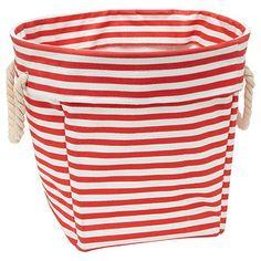 Nautical Nursery - striped fabric basket