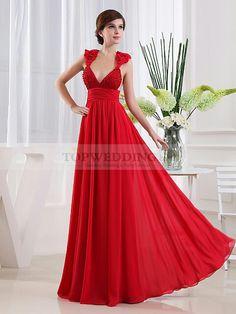 Sleeveless sexy red dress