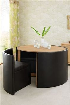 great seating area for small spaces, or just when you want to make everything look neat and tidy!