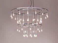 Direct light brass ceiling lamp VAGUE STELLE by BD Barcelona Design   design Antoni de Moragas