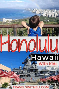 Planning a trip to Honolulu with kids? Here are three can't-be-missed things to do when in Honolulu with kids - visiting Pearl Harbor, hiking Diamond Head, and lounging on Waikiki Beach (and of course the Friday night Waikiki Beach fireworks). Hawaii Vacation Tips, Trip To Maui, Beach Vacations, Hawaii Travel, Waikiki Beach, Honolulu Hawaii, Travel Ideas, Travel Tips, Travel Destinations