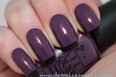 OPI - Duch Ya Just Love OP.  Purple with gold shimmer.