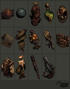 Had teh privlege to work with Red Hook Studios to make some assets for them P.S Some of them may have changed Fantasy Rpg, Dark Fantasy, Hook Game, Dungeon Maps, Dungeon Tiles, Darkest Dungeon, Steampunk, Game Props, Background Drawing