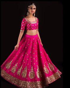 Rose Pink Aankh Lehenga and designer blouse ~ Banjara by Mrunalini Rao. 07 July 2017