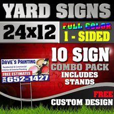 JAMAICAN FOOD Yard Sign Corrugated Plastic Bandit Lawn Decorations USA