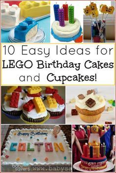 10 easy LEGO cake an     10 easy LEGO cake and cupcake ideas with tutorials!