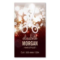 Modern Hair Stylist - Pink Glitter Sparkle Double-Sided Standard Business Cards (Pack Of This great business card design is available for customization. All text style, colors, sizes can be modified to fit your needs. Just click the image to learn more!
