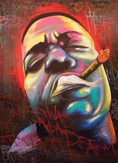 Rap Music And Hip Hop Culture Collection Biggie Smalls, Hip Hop Artists, Music Artists, Arte Do Hip Hop, Street Art, Hip Hop Instrumental, Rapper Art, African American Art, Dope Art