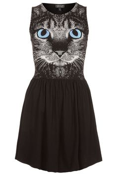 Topshop Cat Face Skater Dress!@Mariah