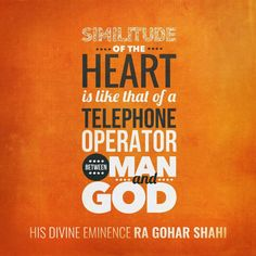 #QuoteoftheDay from The Religion of God (Divine Love) by His Divine Eminence RA Gohar Shahi (http://thereligionofgod.com/). 'Similitude of the heart is like that of a telephone operator between man and God.'  #RiazAhmedGoharShahi #GoharShahi #similitude #heart #mattersoftheheart #quotes #telephone #phone #connection #connected #consciousness #higherconsciousness #God #dailyquotes #dailywisdom #dailyinspiration #inspiringquotes #wisewords #graphicdesign #typography #lettering #spirituality…