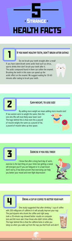 Most health facts are quite straightforward, they make sense! Well, these health facts may be counterintuitive for some, however, they are true!