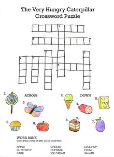 Crossword To Practice FOOD