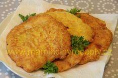 Hedvábné kuřecí řízky – Maminčiny recepty Food 52, Cornbread, Poultry, Mashed Potatoes, Food And Drink, Sweets, Meat, Chicken, Cooking