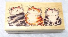 Penny Black Three cats rubber stamp kitty cat Margaret Sherry 1464J Who ? Me ? #PennyBlack #Catsfelines