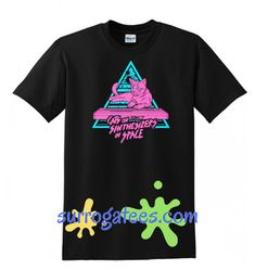 Cats On Synthesizers In Space – Neon T Shirt