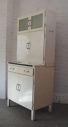 Utility Vintage Retro Kitchen Cabinet Kitchenette 1950s 1960s Dresser Ebay