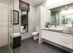Overture Elite with Allure 2 Façade on display at Homeworld South, Gledswood Hills Bathroom Inspiration, Bathroom Ideas, Bathroom Renovations, Double Vanity, Contemporary, Custom Bathrooms, Overture, House Ideas, Design Ideas