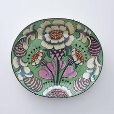 Birger Kaipiainen Wall Plate 1980s No.0234 Folk Art Flowers, Flower Art, Pottery Plates, Ceramic Pottery, Ceramic Painting, Ceramic Art, Pottery Sculpture, Ceramic Tableware, Modern Ceramics