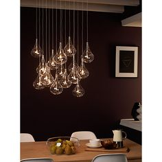 Buy John Lewis Jensen Dangle Cluster Ceiling Light, 16 Light Online at johnlewis.com £350 get electrician to fit dimmer and check buzzing