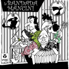 """""""La Bandada Mancini""""  cuarteto segoviano de aroma callejero y atípica formación (Guitarra, Acordeón, Vibráfono y Saxo / Flauta) con esta gozosa y encantadoramente atrevida celebración de la vida y la obra del legendario compositor Henry Mancini, probablemente el creador de la música cinematográfica más memorable de la historia del cine.  Un repertorio absolutamente incontestable, seleccionado cuidadosamente entre lo mejor de los mejor. BANDA SONORA."""