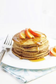 Gingerbread Pancakes with Sauteed Apples