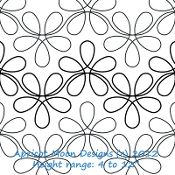 flower continuous line computerized quilting design