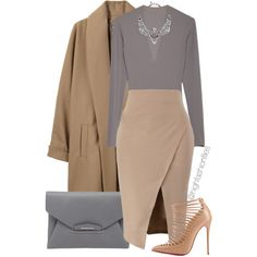 A fashion look from November 2014 featuring Surface To Air coats, Christian Louboutin pumps and Givenchy clutches. Browse and shop related looks.