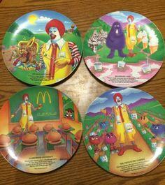 "McDonald's ""McDonaldland"" Collectible Plates - 1989 Set Of 4"