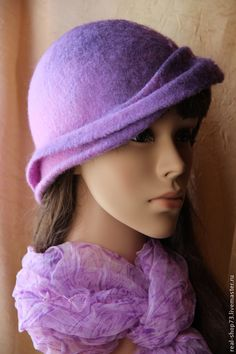 Валяная шляпка Весенняя капель - аксесуары для одежды,бохо,шляпка,шляпка женская
