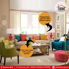 It's the Reader's room! The colors will keep your thoughts alive! Stack up the center table!  #iHome #ArtisticLiving #Pune