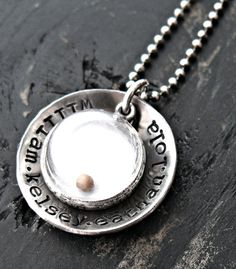 Hand Stamped Necklace - Hand Stamped Jewelry - MUSTARD SEED - Personalized Jewelry - Amulet of faith on Etsy, $75.00