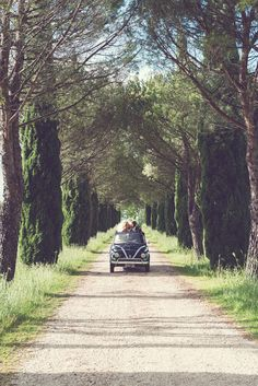 A Vintage Fiat 500 for the wedding car:)  http://www.glamourandgraceblog.com/2014/intimate-italy-destination-wedding/
