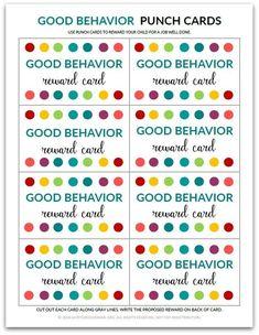 PDF: Homeschool Punch Card Reward Card for by Reward System For Kids, Reward Chart Kids, Chore Chart Kids, Rewards Chart, Incentive Charts, Reward Ideas, Chore Charts, Classroom Reward System, Kids Charts