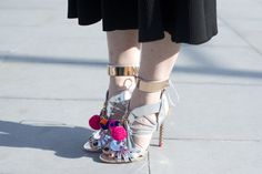 Pin for Later: Updated! See All the Quirky-Cool Shoes and Bags We Spotted at MFW London Fashion Week, Day 2 Sophia Webster shoes.