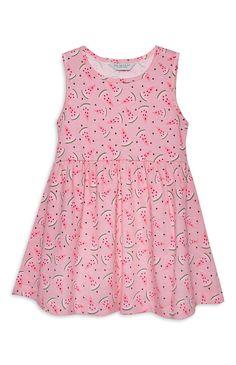 Roze jersey jurk, meisje