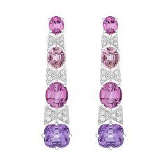 High Jewelry, Jewelry Art, Jewelry Accessories, Jewelry Design, Designer Jewelry, Pink Diamond Earrings, Louis Vuitton Jewelry, All That Glitters, Stone Earrings